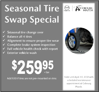 Seasonal Tire Swap Special $259.95